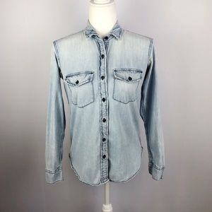 Gap 1969 | Denim Chambray Button Down Blouse